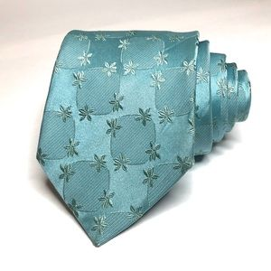 Hugo Boss Mint Green Floral Tie
